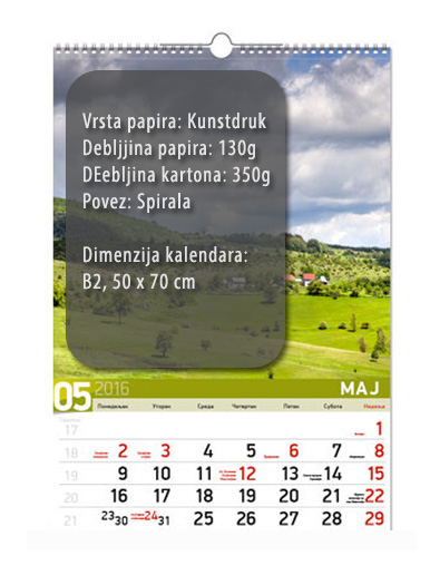 b2 13listni kalendar