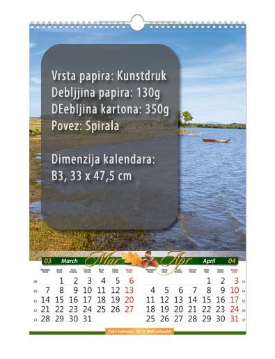 b3 sedmolisni kalendar