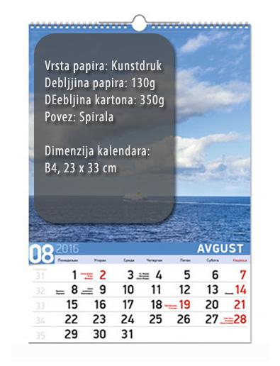 b4 13listni kalendar